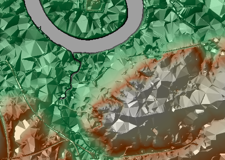 Extract from a comically exaggerated relief map of Greenwich, South-East London