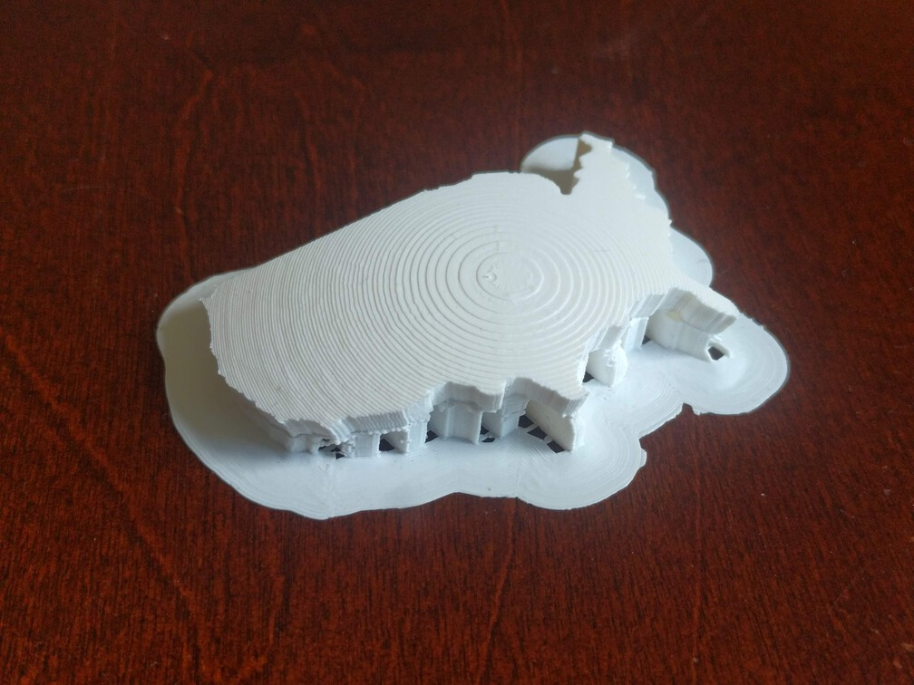 Photo of a 3D print of the contiguous United States